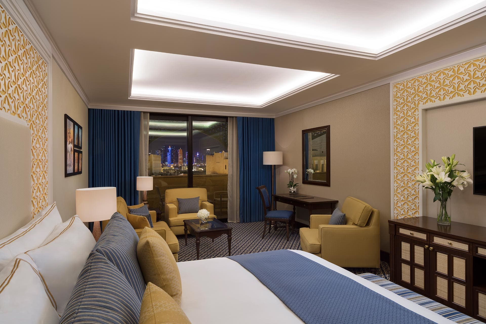 Al Najada Doha Hotel by Tivoli - Deluxe Room Night View